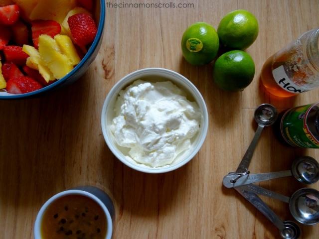 Tropical Frozen Yogurt via thecinnamonscrolls.com | @cinnamonscribe