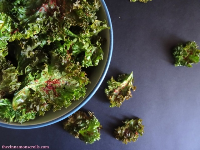 Salted Paprika Kale Chips